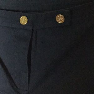Tory Burch Navy Ankle Trouser Pants